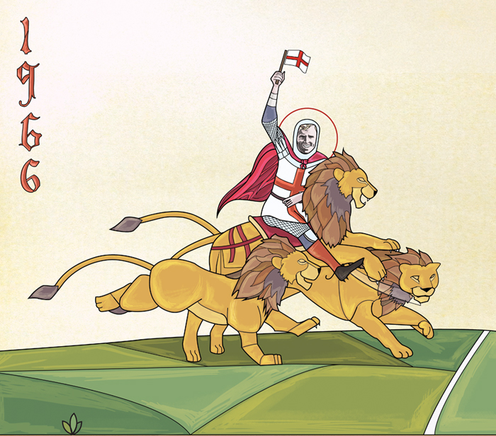 Cropped section of the Bobby Moore as St George FA Illustration
