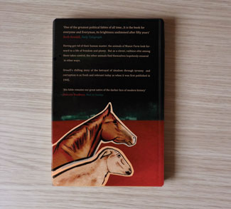 Hardback Edition of Animal Farm back cover