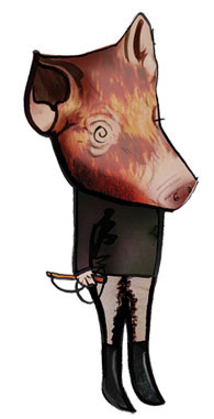 Pig from Animal Farm character design