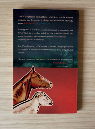 Animal Farm back cover Paperback