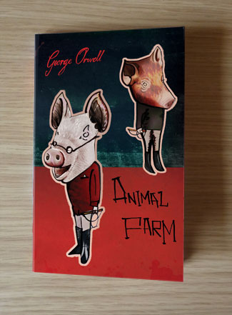 Paperback Animal Farm front cover