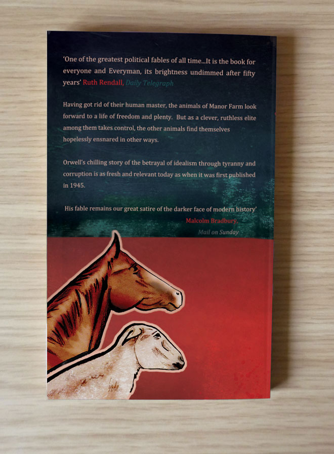Paperback Book Cover Paper Weight : Helen nowell illustration animal farm