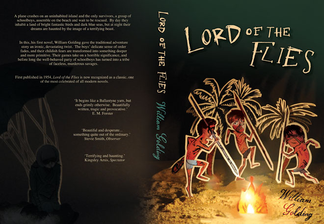 Lord of the Flies book cover by Helen Nowell