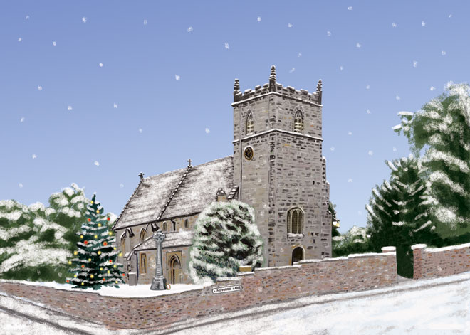Woodborough Church by Helen Nowell