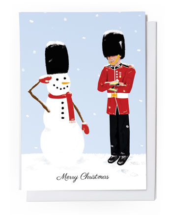 solider and snowman card