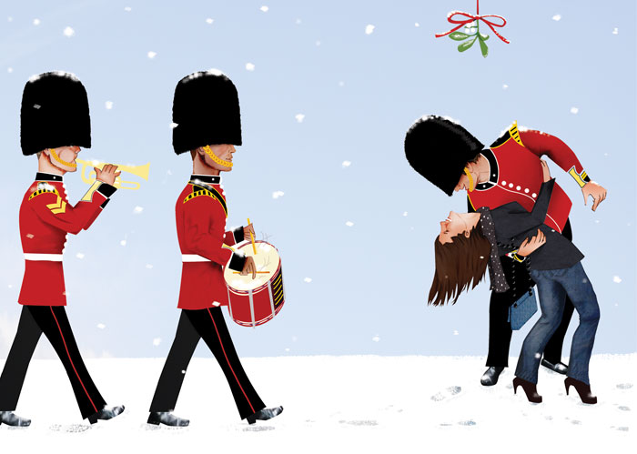 Marching Band and the Mistletoe by Helen Nowell