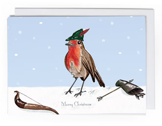 Robin Hood Bird Christmas card