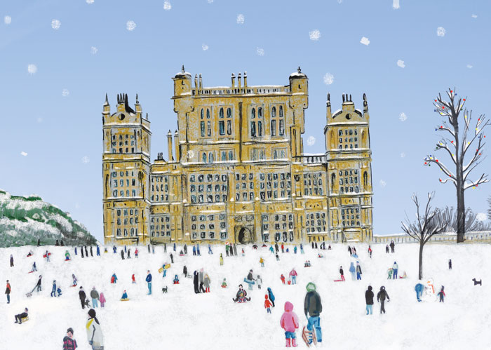 Wollaton Park at Christmas in the Snow by Helen Nowell