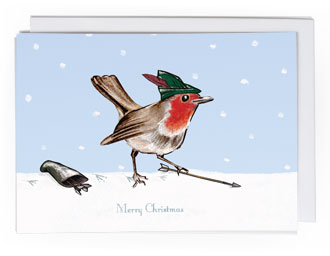 Robin Bird 2 Christmas card