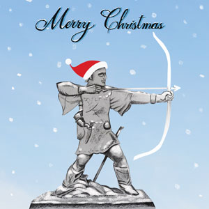 Robin Hood Christmas card