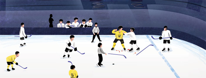 link to view the Nottingham Panthers illustration work