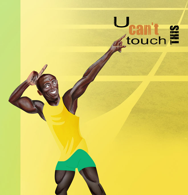 Can't touch this! Illustration Usain Bolt