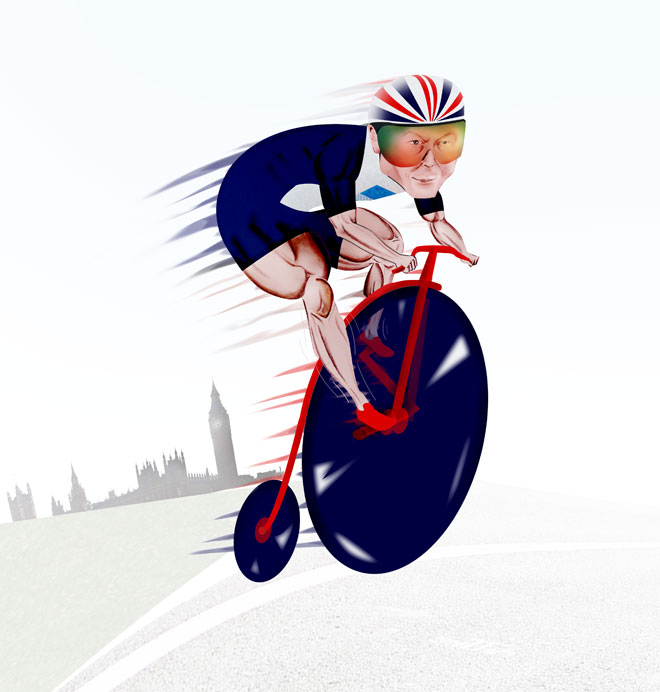 Chris Hoy Illustration
